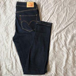Levi's high rise skinny dark wash jean size 30